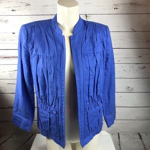 Chico's Blue Jacket Size 1 Medium (8)